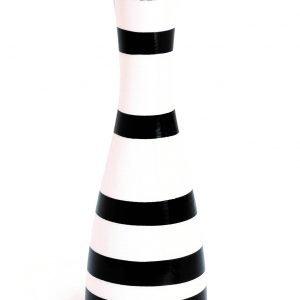 Kähler Design Kähler Omaggio Kynttilänjalka Musta / Valkoinen 20 Cm