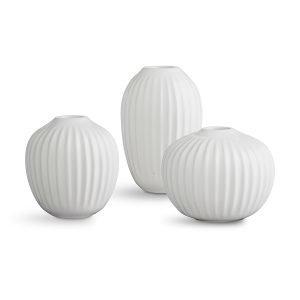 Kähler Hammershøi Maljakko Miniatyyri Valkoinen 3-Pakkaus
