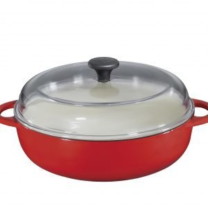 Küchenprofi Valurautapaistokasari Punainen Ø 24 Cm