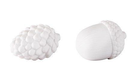 KJ Collection Koriste-esine Google Keramiikka Valkoinen 7 cm