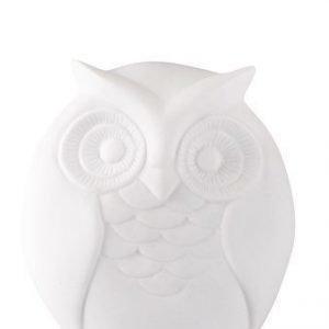 KJ Collection Koriste-esine Keramiikka Pöllö Valkoinen 12 cm