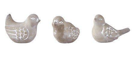 KJ Collection Koriste-esine Lintu Sementti 8 cm