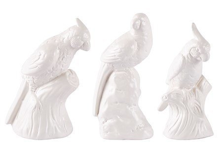 KJ Collection Koriste-esine Lintu Valkoinen 14 cm