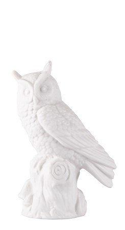 KJ Collection Koriste-esine Pöllö Valkoinen 10 cm
