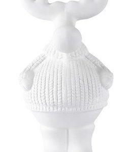 KJ Collection Koriste-esine Poro Keramiikka Valkoinen 20 cm