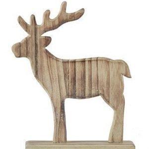 KJ Collection Koriste-esine Poro porsliini Puu Luonnollinen 21 cm