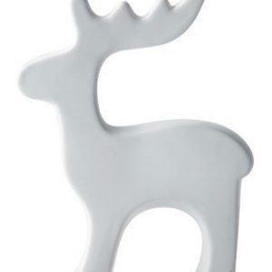 KJ Collection Koriste-esine Poro porsliini Valkoinen 21 cm