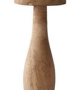 KJ Collection Koriste-esine Sieni Keramiikka Puu Tumma Luonnollinen 17 cm