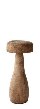 KJ Collection Koriste-esine Sieni Puu Tumma Luonnollinen 12 cm