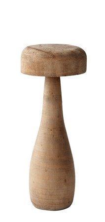 KJ Collection Koriste-esine Sieni Puu Tumma Luonnollinen 15 cm