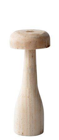 KJ Collection Koriste-esine Sieni Puu Vaalea Luonnollinen 15 cm