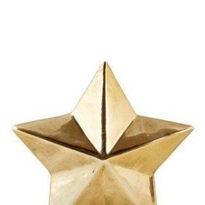 KJ Collection Koriste-esine Tähti Kulta 12x12 cm