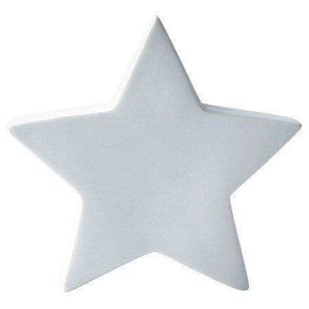 KJ Collection Koriste-esine Tähti porsliini Valkoinen 18 cm