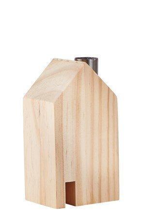 KJ Collection Koriste-esine Talo Metalli/Luonnollinen 14 cm