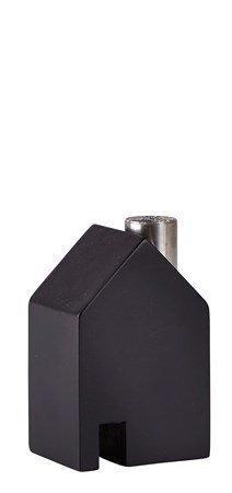 KJ Collection Koriste-esine Talo Metalli/Musta 10 cm