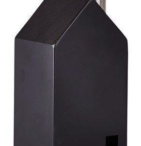KJ Collection Koriste-esine Talo Metalli/Musta 14 cm