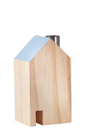 KJ Collection Koriste-esine Talo Metalli/Sininen 14 cm