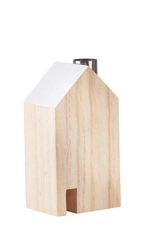 KJ Collection Koriste-esine Talo Metalli/Valkoinen 14 cm