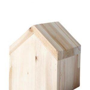 KJ Collection Koriste-esine Talo Puu Luonnollinen 12 cm