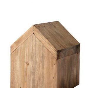 KJ Collection Koriste-esine Talo Puu Tumma Luonnollinen 12 cm