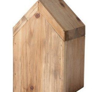 KJ Collection Koriste-esine Talo Puu Tumma Luonnollinen 16 cm