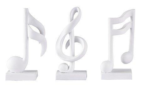 KJ Collection Koriste-esine Valkoinen 17 cm