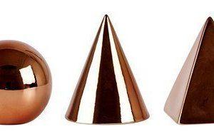 KJ Collection Koriste-esine porsliini Kupari 8 cm