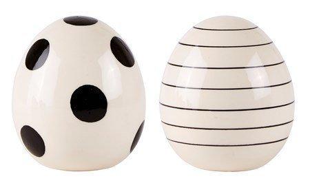 KJ Collection Koriste-esine porsliini Valkoinen 9x11