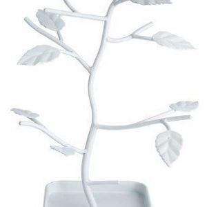 KJ Collection Korupuu Metalli Valkoinen 28 cm