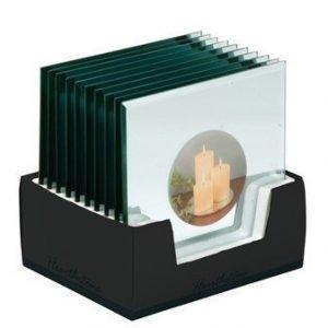 KJ Collection Kynttiläalusta Kirkas 20x20 cm