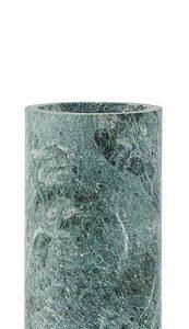 KJ Collection Kynttilälyhty Marmori Vihreä 5x10 cm