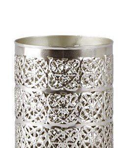KJ Collection Kynttilälyhty Metalli Hopea 10