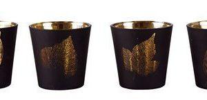 KJ Collection Kynttilälyhty kuvioilla Kulta 7