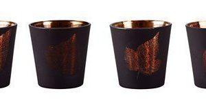 KJ Collection Kynttilälyhty kuvioilla Kupari 7