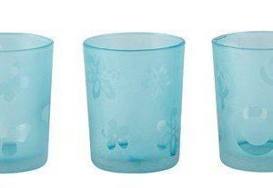 KJ Collection Kynttilälyhty kuvioilla Sininen 6