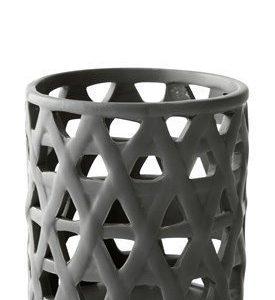 KJ Collection Kynttilälyhty kuvioilla Tummanvihreä 12 cm