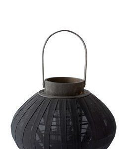 KJ Collection Lyhty Bambu Musta 23 cm