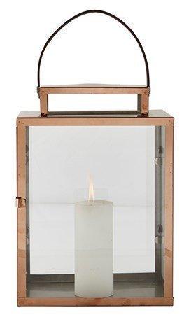 KJ Collection Lyhty remmillä Kupari 32 cm