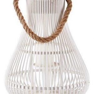 KJ Collection Lyhty remmillä Valkoinen 34 cm