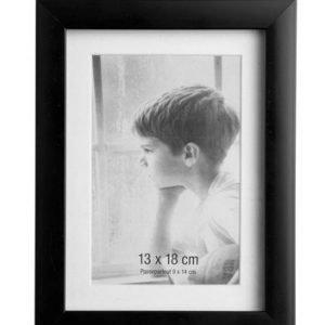 KJ Collection Taulunkehys Lasi Musta 18x13 cm