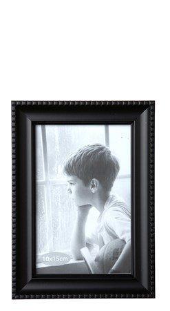 KJ Collection Taulunkehys Lasi/Musta 15x10 cm