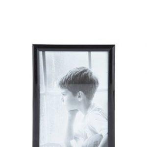 KJ Collection Taulunkehys Musta/Lasi 15x10 cm