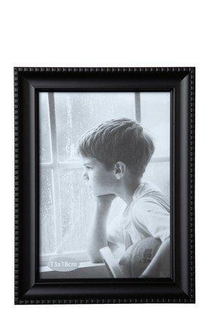KJ Collection Taulunkehys Musta/Lasi 18x13 cm