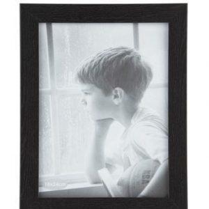 KJ Collection Taulunkehys Musta/Lasi 18x24 cm