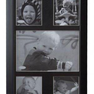KJ Collection Taulunkehys Musta/Lasi 25x16 cm