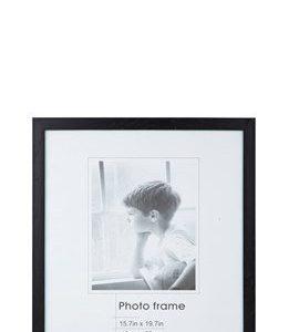 KJ Collection Taulunkehys Musta/Lasi 50x40 cm