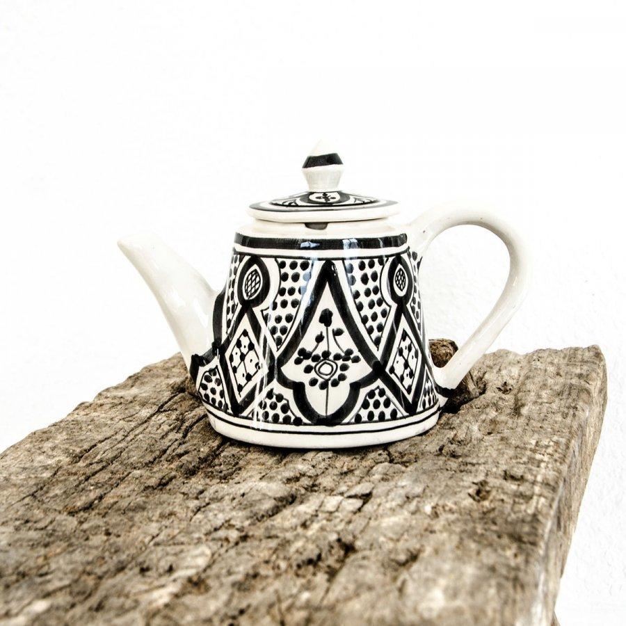 Kahvi/ Teekannu Musta Valko