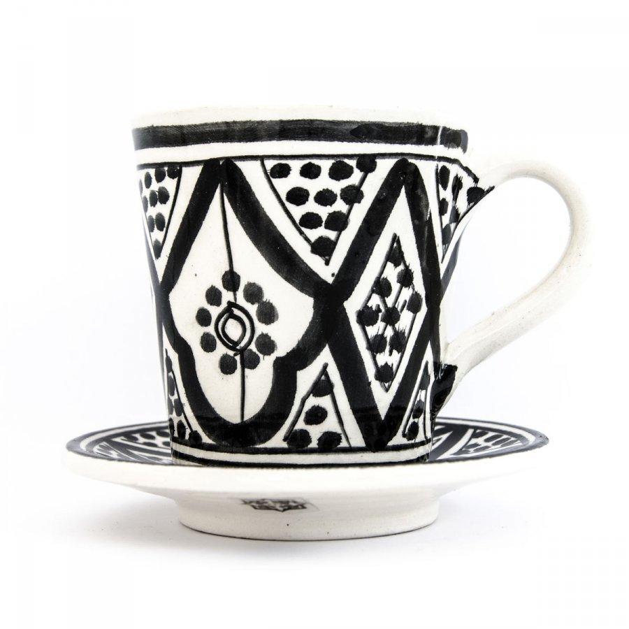 Kahvikuppi Musta Valko