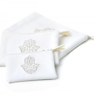 Keinonahkainen Fatima Meikkilaukku Valkoinen