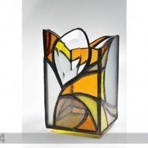 KlaasinterjÖÖr Kynttilänlyhty Lasimaalaus
